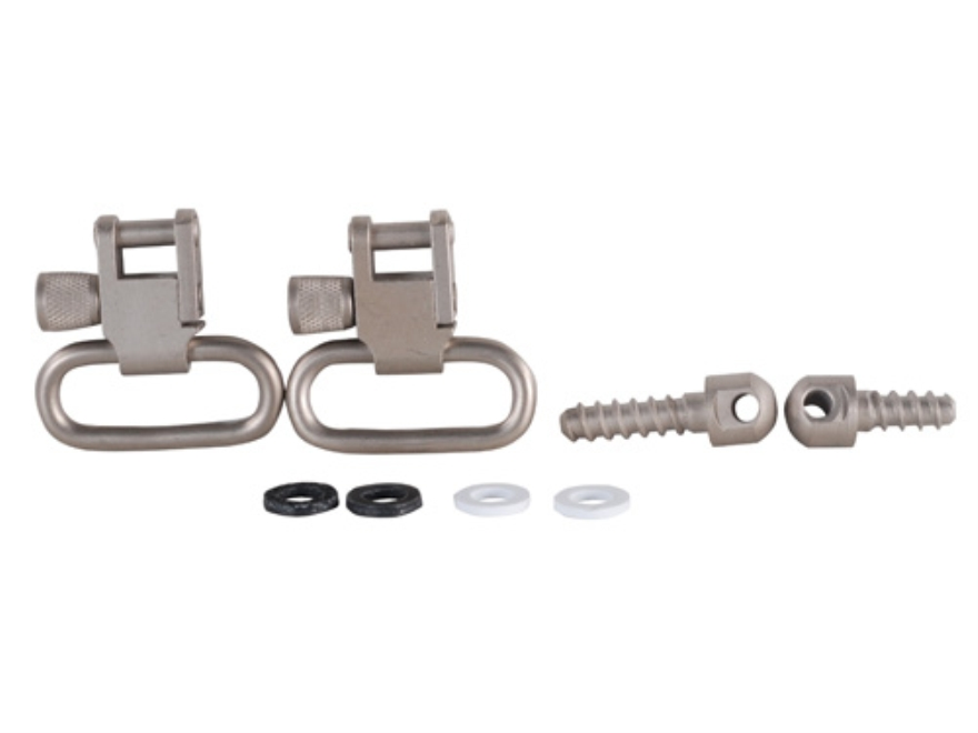 """GrovTec Sling Swivel Studs with 1"""" Locking Swivels Set with Wood Screw Forend"""