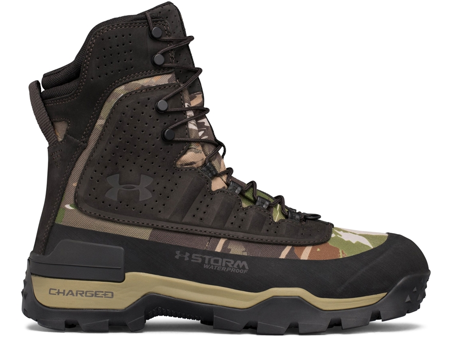 """Under Armour UA Brow Tine 2.0 8"""" Waterproof 400 Gram Insulated Hunting Boots Leather Men's"""