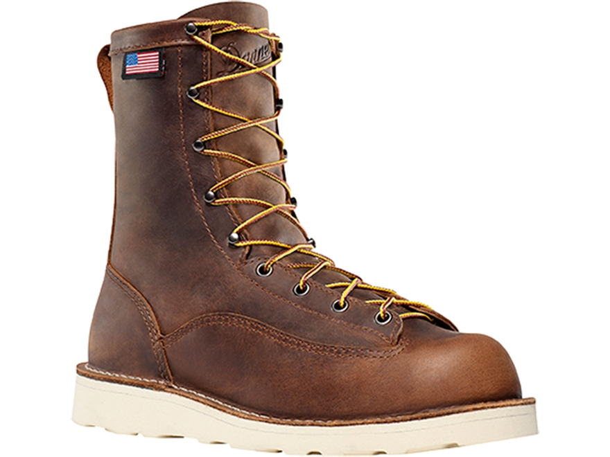 "Danner Bull Run 8"" Uninsulated Work Boots Leather Brown Men's"