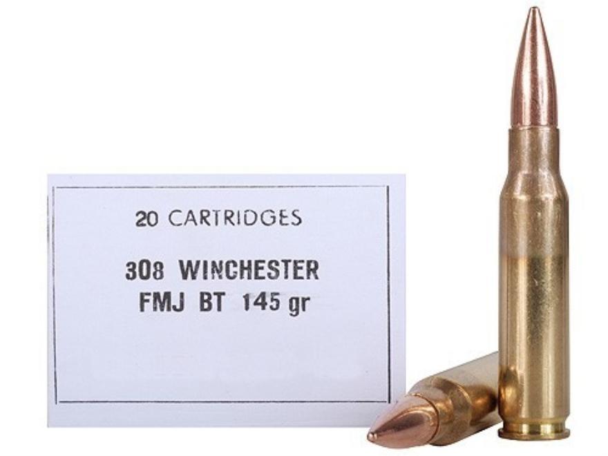 Prvi Partizan Ammunition 308 Winchester 145 Grain Full Metal Jacket Boat Tail Battle Pa...