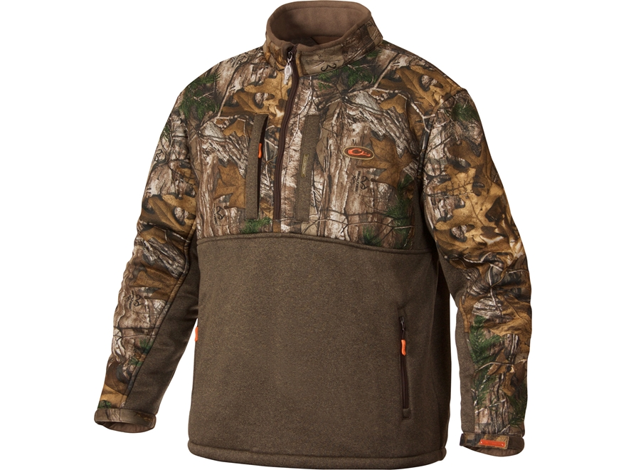 Drake Non-Typical Men's Silencer Scent Control Double Impact 1/4 Zip Jacket Polyester