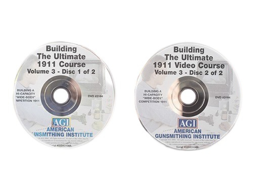 "American Gunsmithing Institute (AGI) Video ""The Ultimate 1911"" Volume 3, 2 Volume Set DVD"