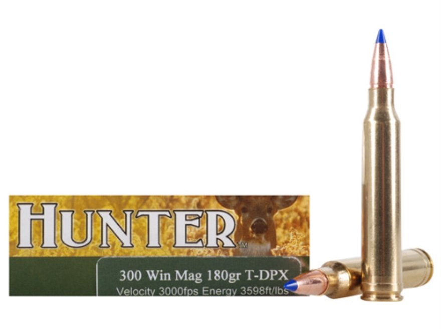 Cor-Bon DPX Hunter Ammunition 300 Winchester Magnum 180 Grain Tipped DPX Lead-Free Box ...