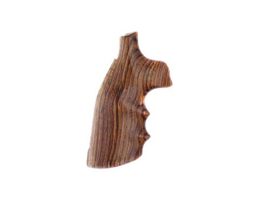 Hogue Fancy Hardwood Grips with Finger Grooves S&W K, L-Frame Square Butt
