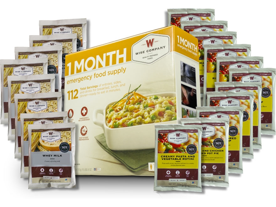 Wise Food 1 Month Emergency Food Supply Freeze Dried Food Kit