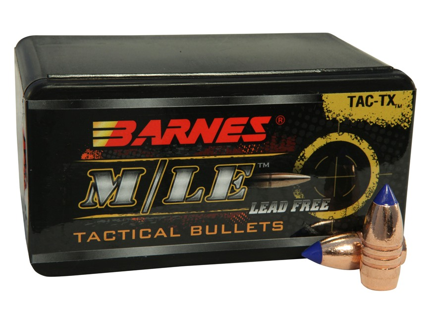 Barnes Tipped TAC-TX Bullets 458 SOCOM (458 Diameter) 300 Grain Boat Tail Lead-Free Box...