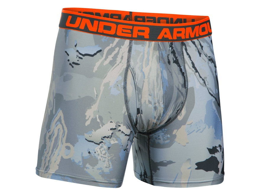 "Under Armour Men's UA Camo 6"" Boxerjock 2.0 Polyester"