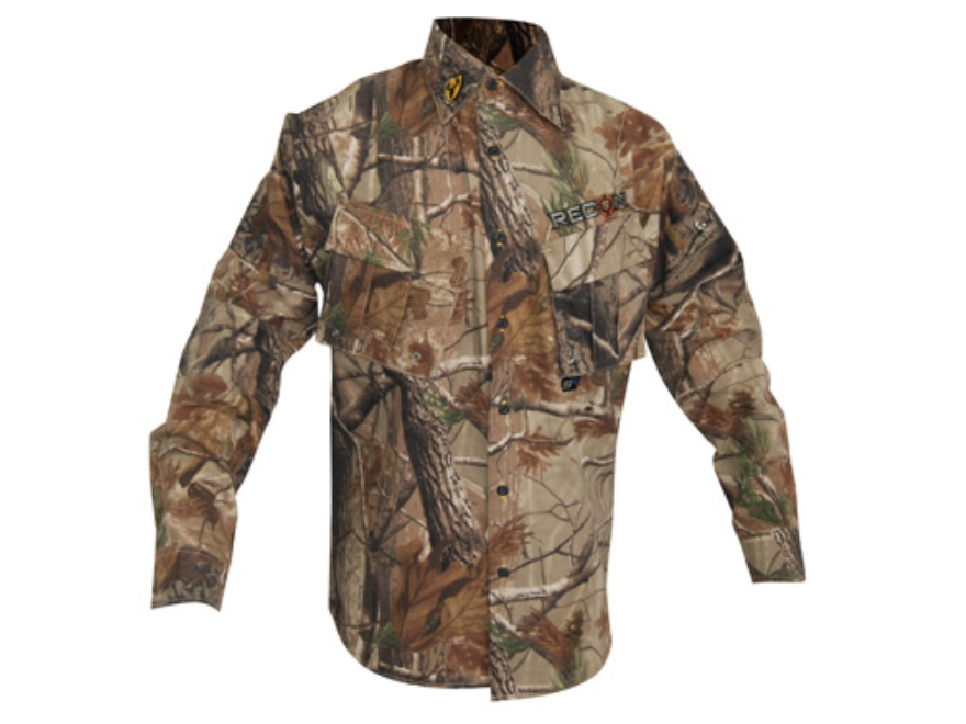 ScentBlocker Men's Recon Shirt Long Sleeve Polyester Realtree Xtra Camo Large 42-44