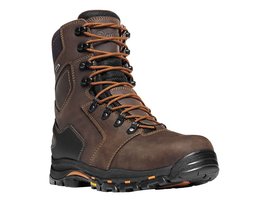 "Danner Vicious 8"" Waterproof Non-Metallic Toe Work Boots Leather Brown Men's"