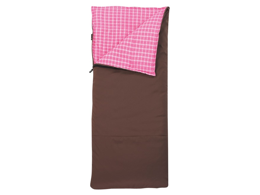 Slumberjack Women's Big Timber 20 Degree Sleeping Bag Polyester Brown