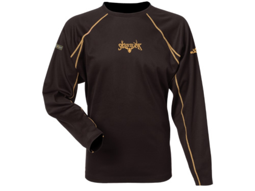 Scent-Lok Men's BaseSlayers Lightweight Crew Shirt Shirt Long Sleeve Polyester Bison La...