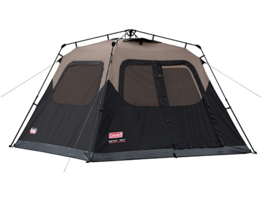 "Coleman Instant 6 Man Cabin Tent 120"" x 108"" x 72"" Polyester Black and Tan"