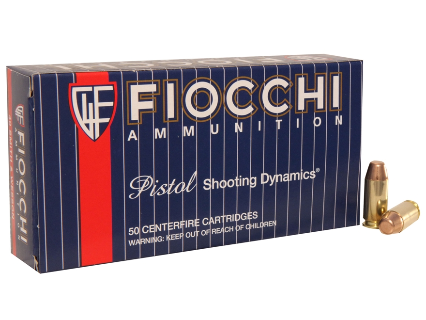 Fiocchi Shooting Dynamics Ammunition 40 S&W 170 Grain Full Metal Jacket Truncated Cone ...