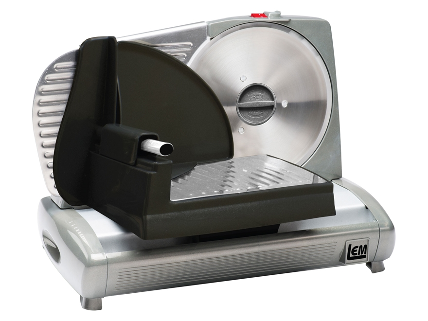 "LEM 7.5"" Electric Meat Slicer Aluminum and Steel"