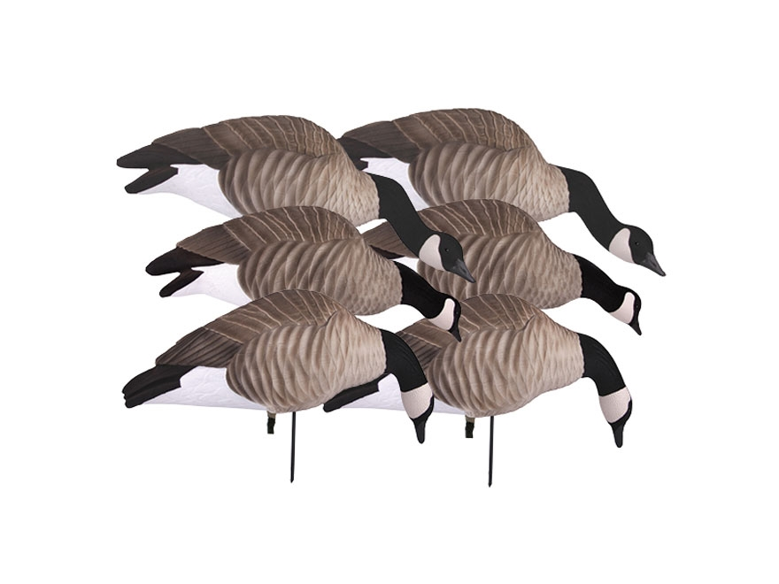 GHG Newbold FFD Lesser Full Body Goose Decoy Pack of 6 with Slotted Decoy Bag