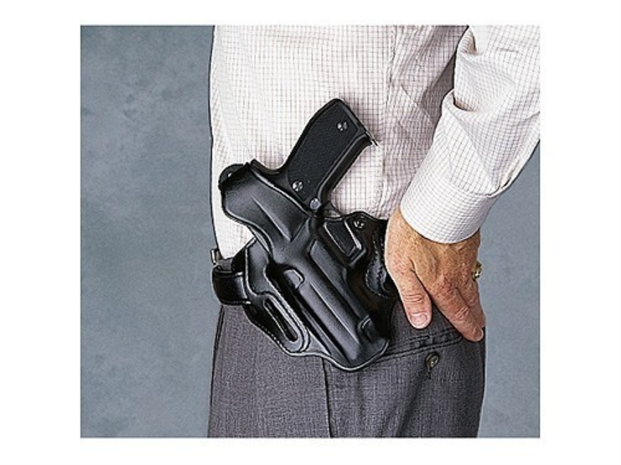 Galco COP 3 Slot Holster Left Hand Glock 17, 22, 31 Leather Black