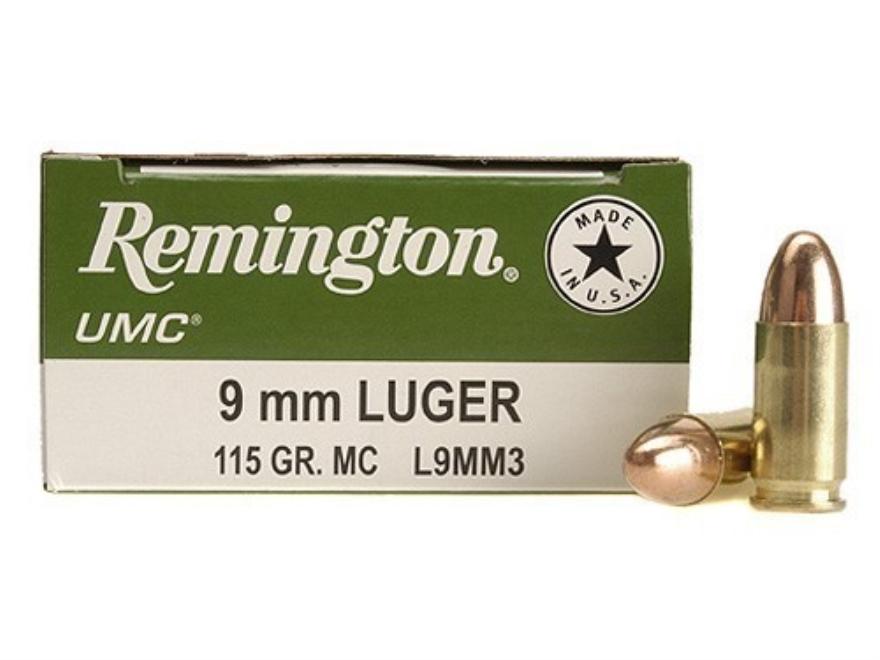 Remington UMC Ammunition 9mm Luger 115 Grain Full Metal Jacket