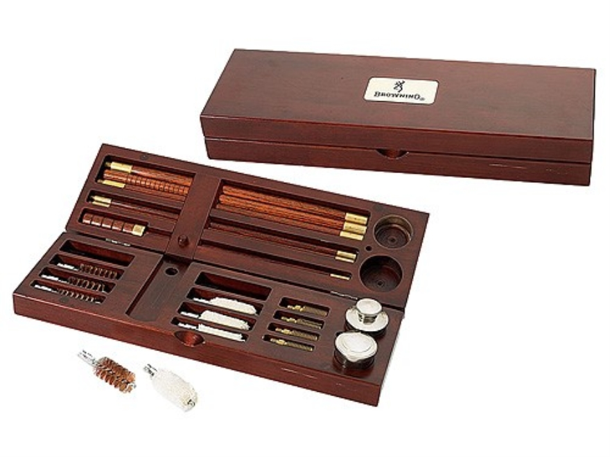 Browning Presentation Shotgun Cleaning Kit 12, 16, 20, 28 Gauge, 410 Bore in Wooden Case