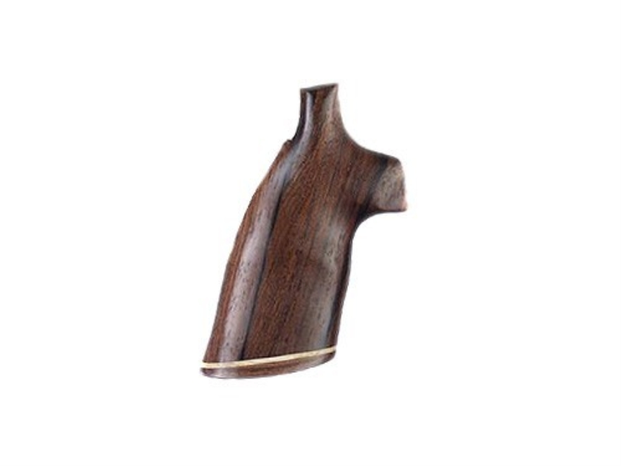 Hogue Fancy Hardwood Grips with Accent Stripe S&W N-Frame Square Butt