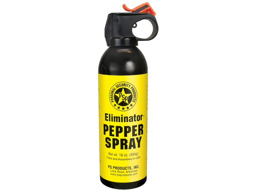 Eliminator Fire Master Top Magnum Pepper Spray 16 oz Aerosol 10% OC and UV Dye Black