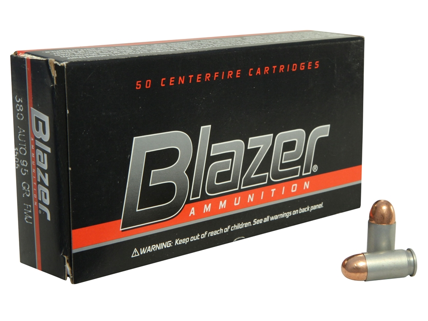 Blazer Ammunition 380 ACP 95 Grain Full Metal Jacket Box of 50