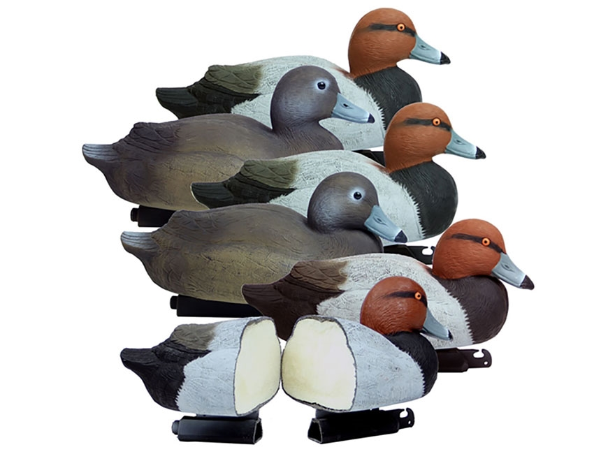 Higdon Battleship Foam Filled Redhead Duck Decoy Polymer Pack of 6