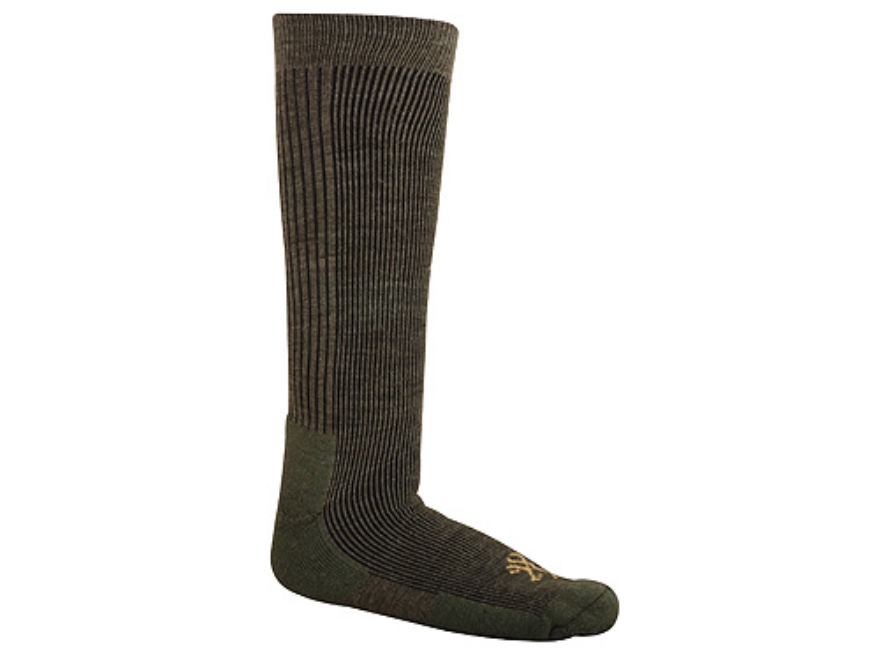 Browning Men's Lightweight Socks Wool Blend Olive Large 10-13