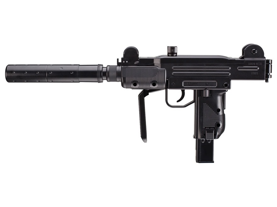 UZI Mini Carbine CO2 Air Rifle 177 Caliber BB Black