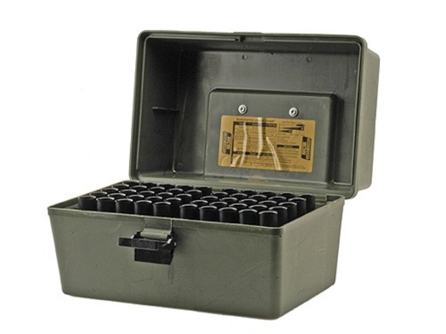 "MTM Shotshell Box with Handle 2-3/4"", 3"" 100-Round Plastic Camo"