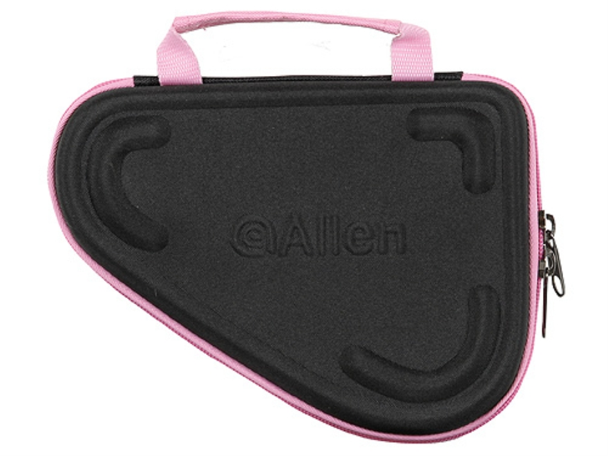 "Allen Molded Compact Pistol Case 5"" Black and Pink"