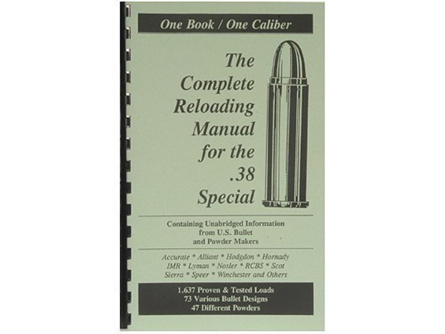 "Loadbooks USA ""38 Special"" Reloading Manual"