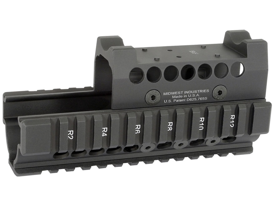 Midwest Industries US Palm 2-Piece Railed Handguard AK-47, AK-74 with Burris Fast Fire ...