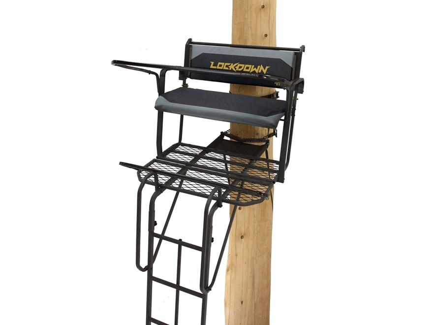 Rivers Edge SYCT LockDown Tall 2-Man Ladder Treestand Steel Gray