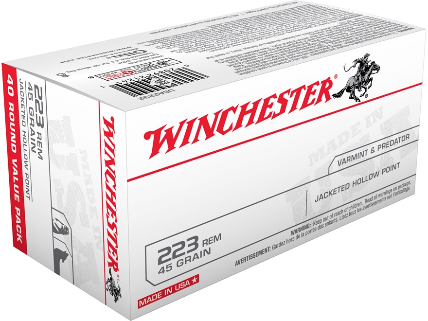 Winchester USA Ammunition 223 Remington 45 Grain Jacketed Hollow Point