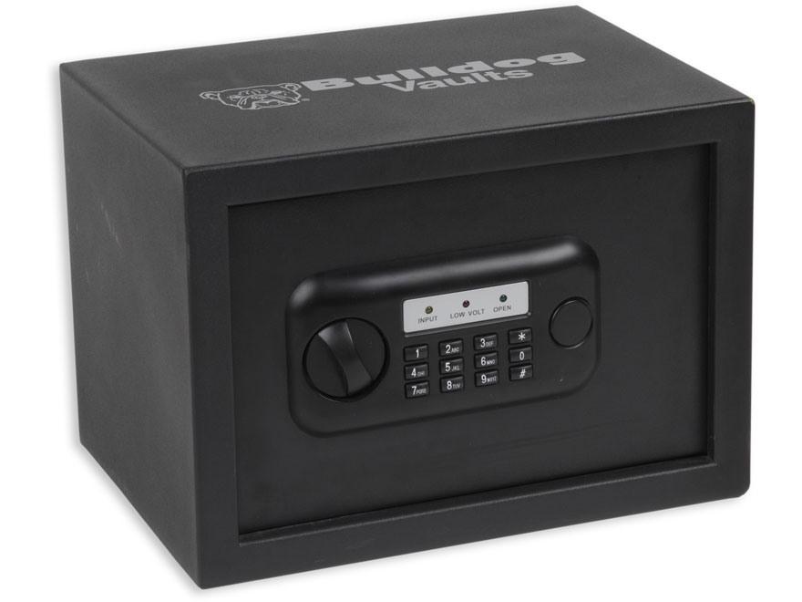 "Bulldog Standard Digital Pistol Vault Security Box 10"" x 13-1/2"" x 10"" Steel Black"