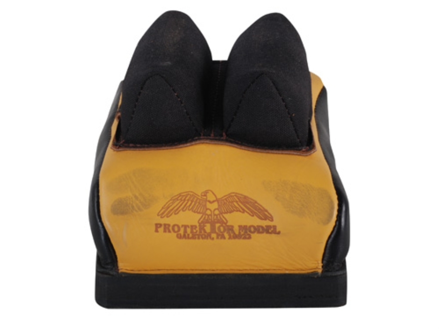 Protektor Custom Bumble Bee Dr Leather Cordura Mid-Ear Rear Shooting Rest Bag Leather T...