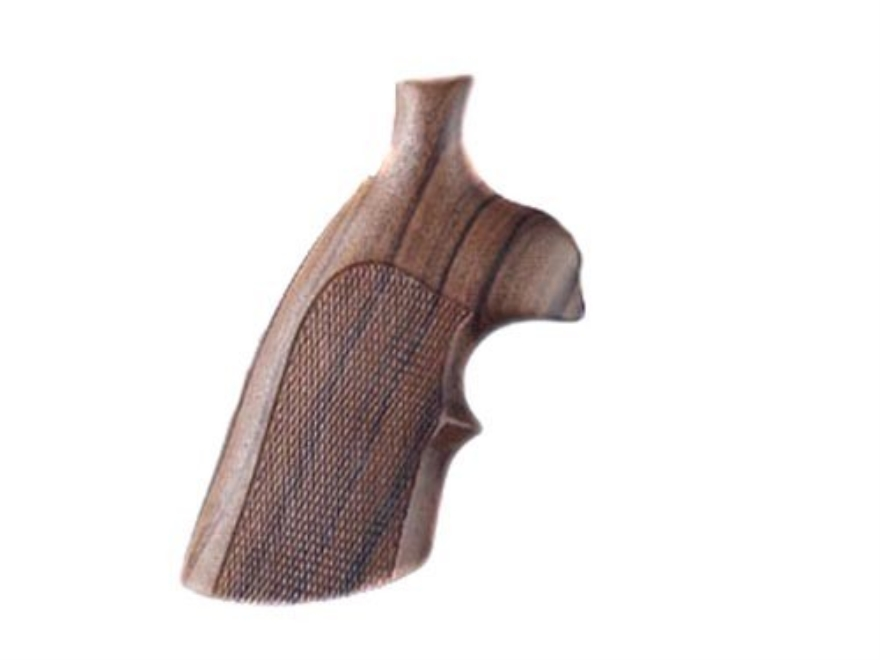 Hogue Fancy Hardwood Grips with Top Finger Groove Colt Anaconda, King Cobra Checkered
