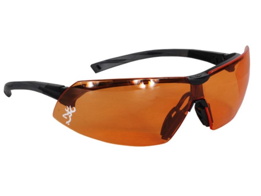 Browning Buckmark Shooting Glasses Black Frame Orange Lens