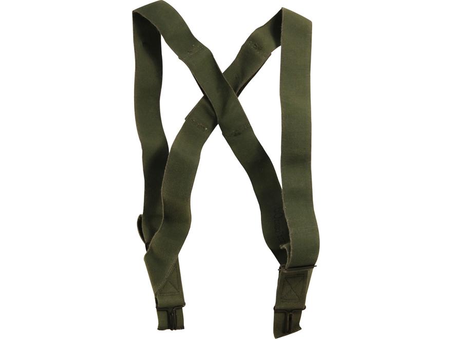 Military Surplus M1950 Suspenders Grade 2 Olive Drab