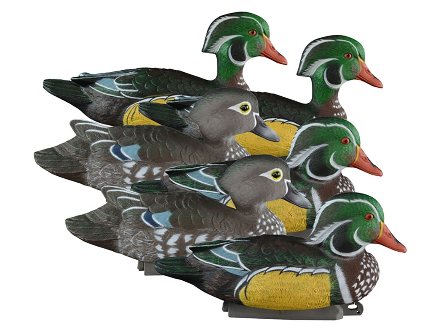 Higdon Battleship Foam Filled Wood Duck Decoy Polymer Pack of 6