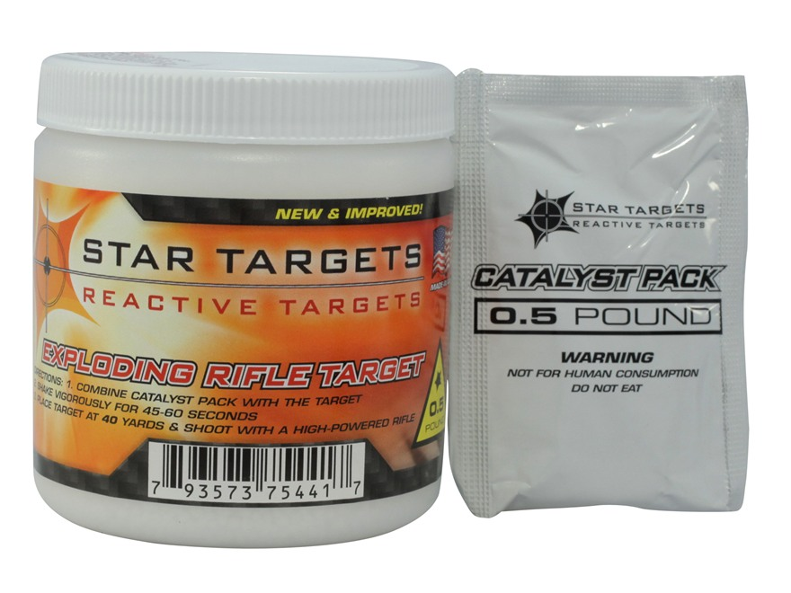 Star Targets Exploding Rifle Target Plastic Canister 1/2 lb.