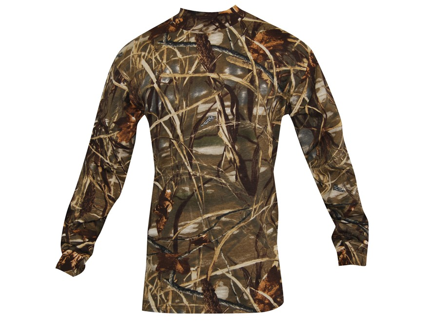 Russell Outdoors Men's Explorer Mock T-Shirt Long Sleeve Cotton Realtree Max-4 Camo 2XL...