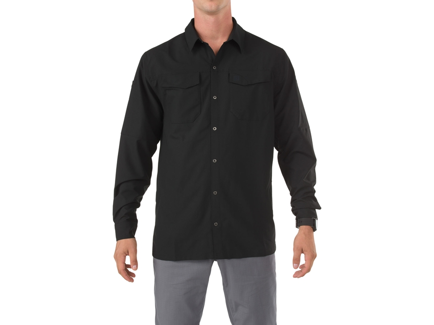 5.11 Men's Freedom Flex Shirt Long Sleeve Polyester Black Large