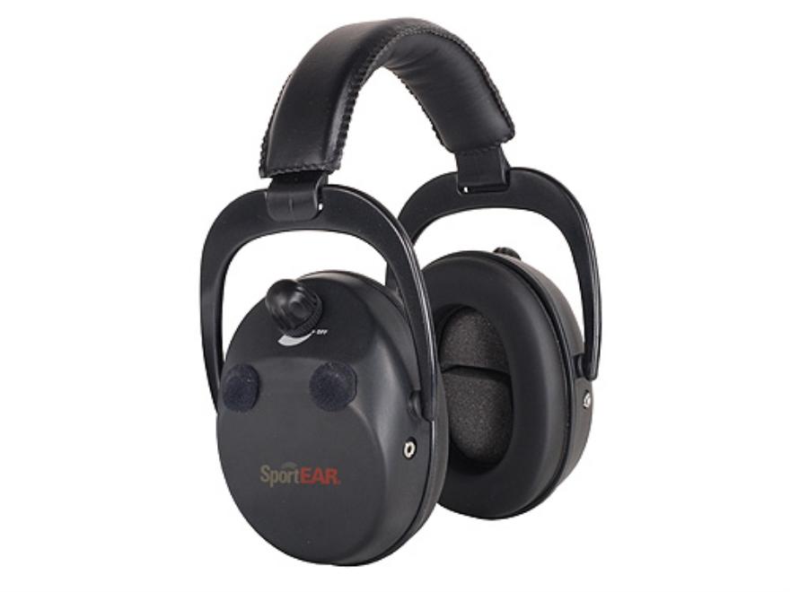 SportEAR Electronic Earmuffs XT4 (NRR 25dB) Black