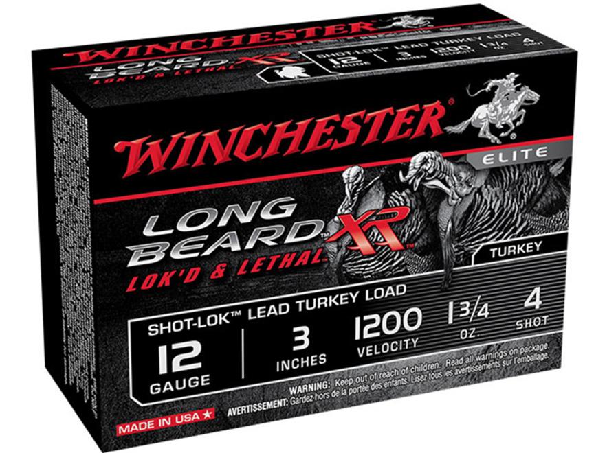 """Winchester Long Beard XR Turkey Ammunition 12 Gauge 3"""" 1-3/4 oz #4 Copper Plated Shot B..."""