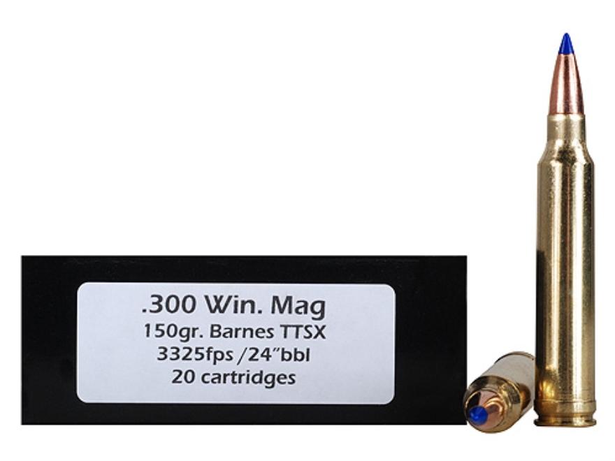 Doubletap Ammunition 300 Winchester Magnum 150 Grain Barnes Tipped Triple-Shock X Bulle...