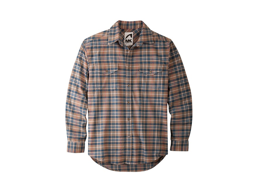 Mountain khakis men 39 s peaks flannel shirt long mpn for Cotton polyester flannel shirts
