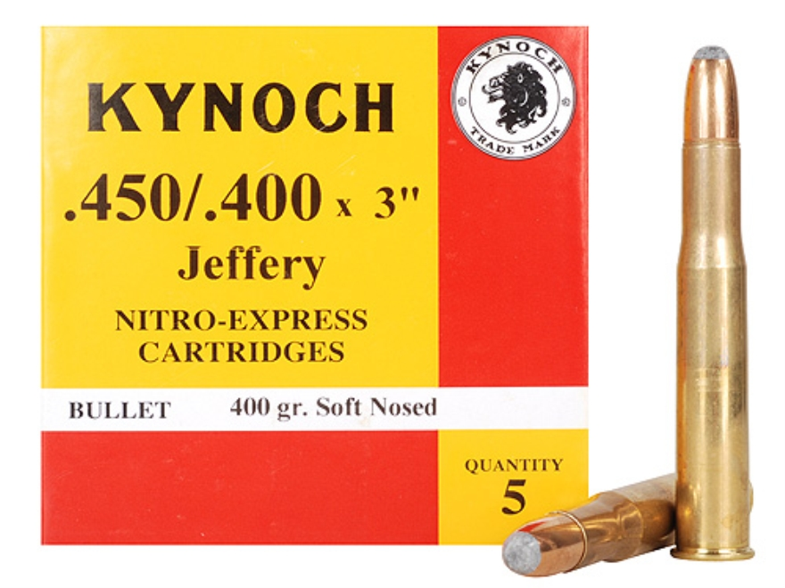 "Kynoch Ammunition 450-400 Nitro Express 3"" (410 Diameter) 400 Grain Woodleigh Weldcore ..."