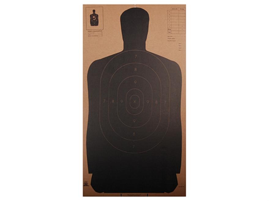 "NRA Official Silhouette Targets B-27 (24"") 50 Yard Cardboard Black Package of 25"