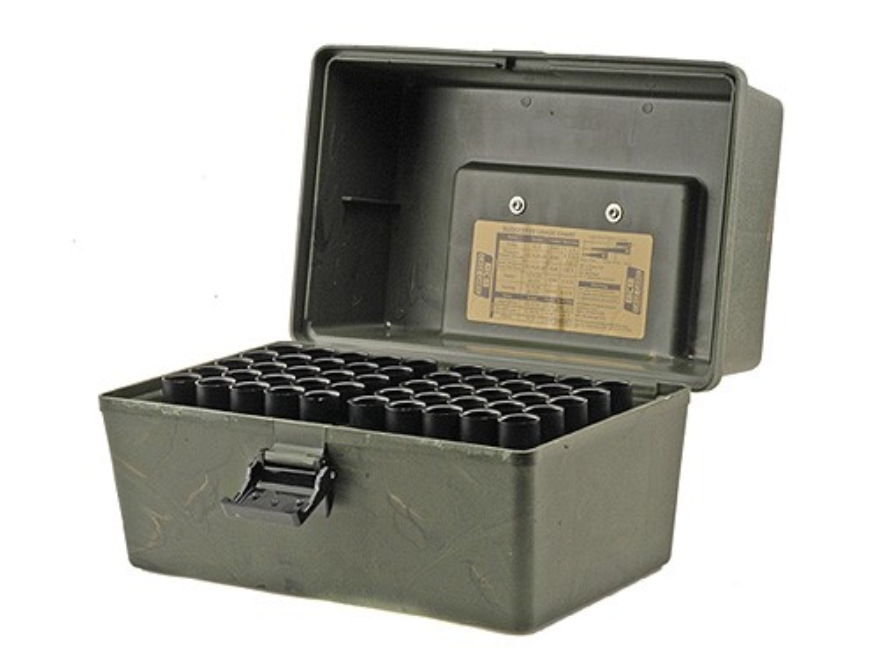 "MTM Shotshell Box with Handle 2-3/4"", 3"" 100-Round Plastic Camo"
